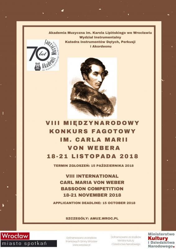 VIII Międzynarodowy Konkurs Fagotowy im. Carla Marii Von Webera