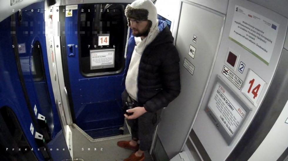 Okradł pasażera, który zasnął wpociągu. Kto go rozpoznaje?